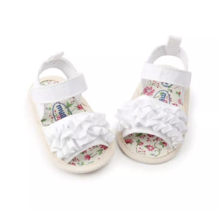 Ruffle Sandals - White - SEO Optimizer Test