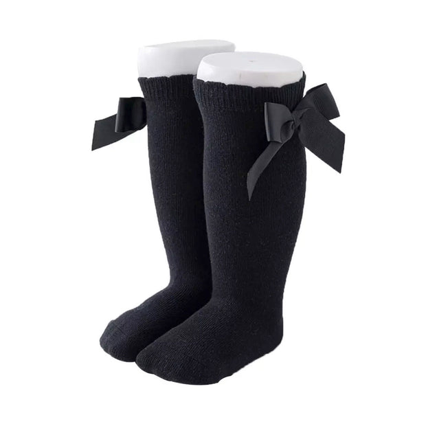 Eva Bow Socks- Black