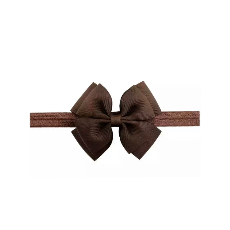 Basic Bow Headband- Brown - SEO Optimizer Test