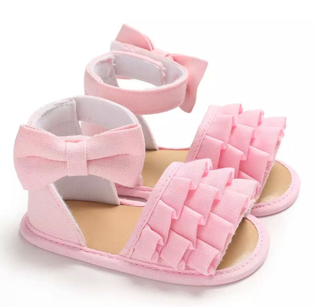 Emaline Ruffle Sandals - Pink - SEO Optimizer Test