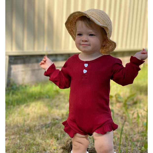 Vivian Heart Romper- Maroon - SEO Optimizer Test