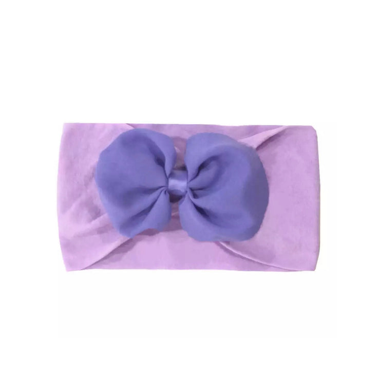 Billie Bow Headband-Purple