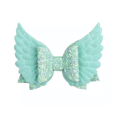 XL Wings Hair Bow- Teal - SEO Optimizer Test
