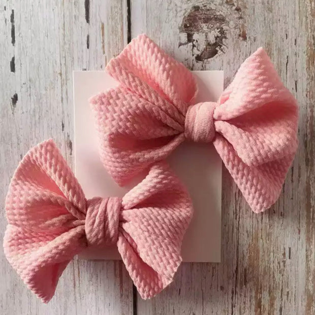 Cate Piggie Bows- Musk Pink