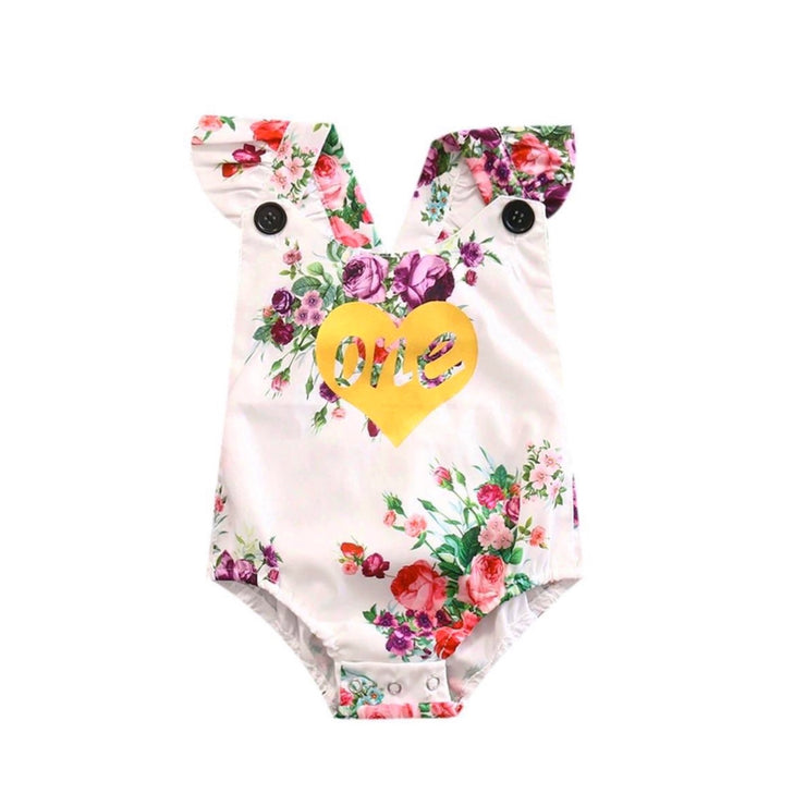 Floral One Birthday Onesie - SEO Optimizer Test