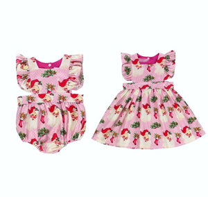 Pinky Christmas Romper  OR Pinky Christmas Dress
