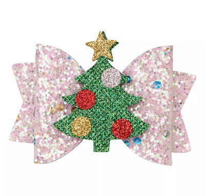 Glitz Tree Hair Bow- Confetti