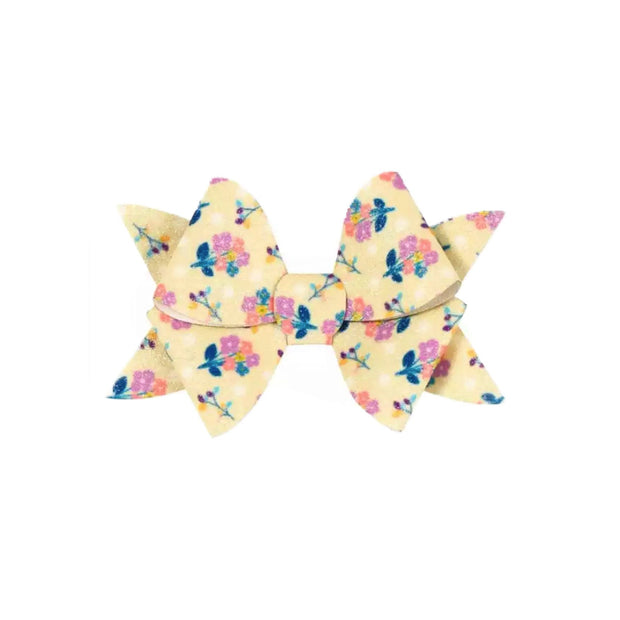 Deja Shimmer Bow- Yellow Floral
