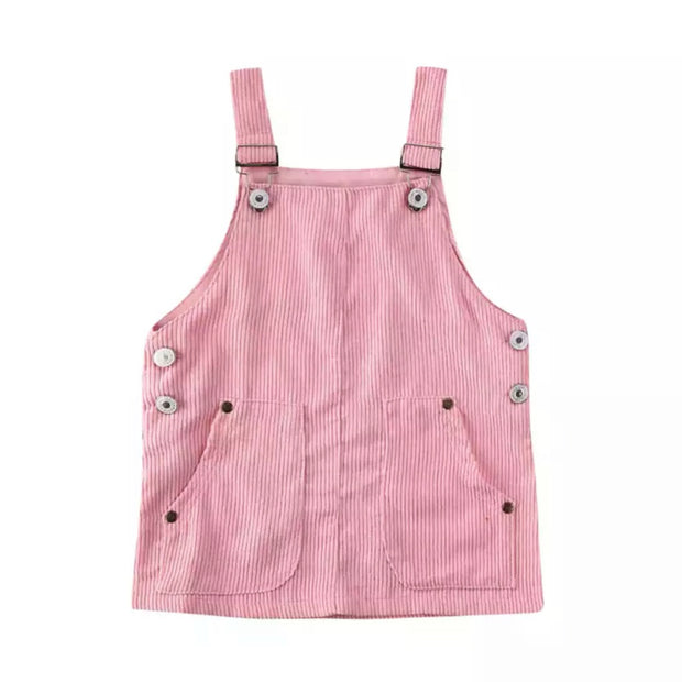 Marla Overall Dress- Pink