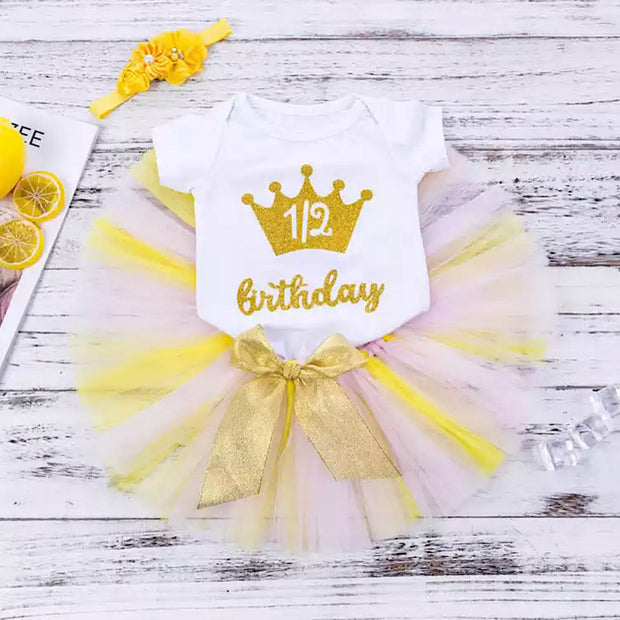 I'm HALF ONE Birthday Set- Sunny Yellow