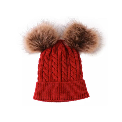 Pompom Beanie - Deep Red - SEO Optimizer Test