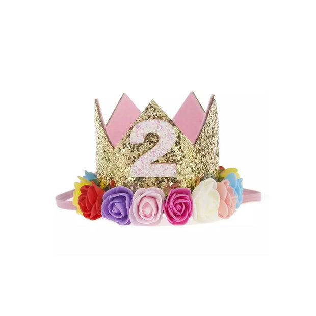Ultimate 2nd Birthday Crown - Rainbow