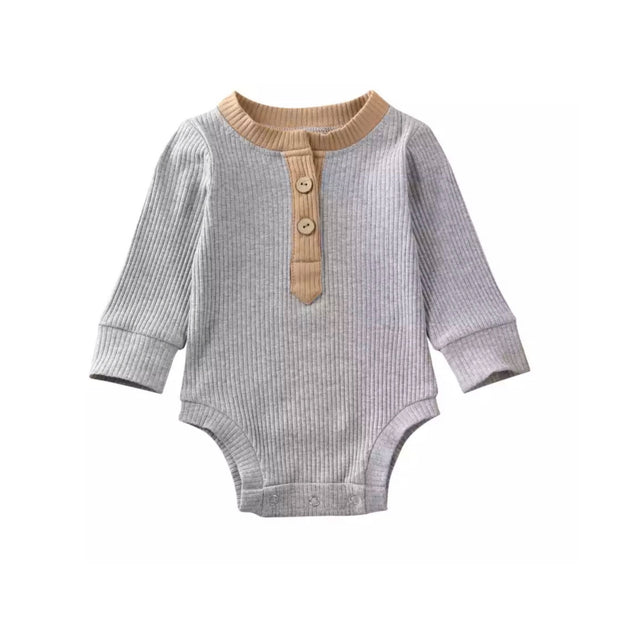 Braxton Onesie-  Tan on Grey - SEO Optimizer Test