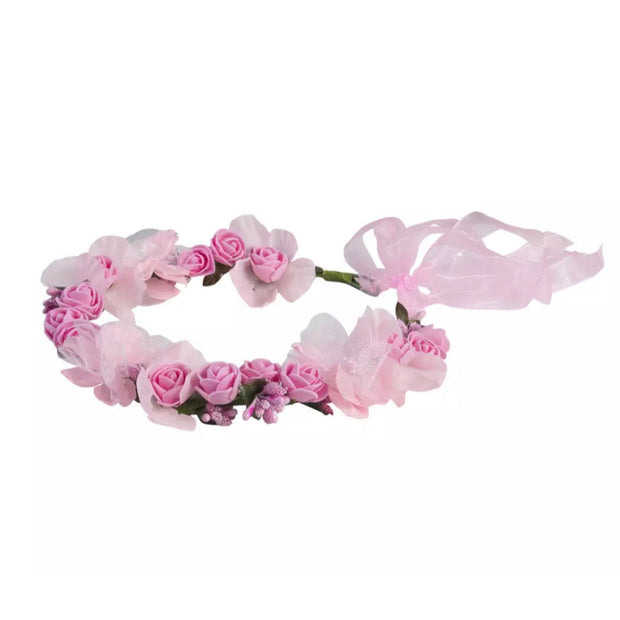 Roma Halo Crown - Baby Pink