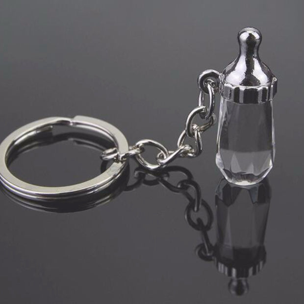 Baby Bottle Key Ring