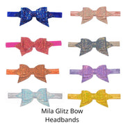 Mila Glitz Bow Headbands
