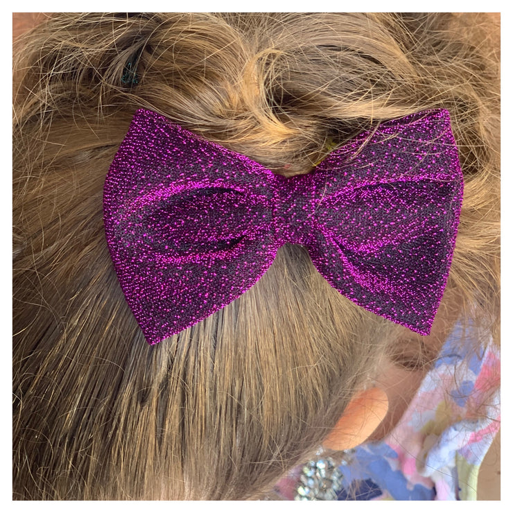Zuri Hair Bow- Deep Purple - SEO Optimizer Test