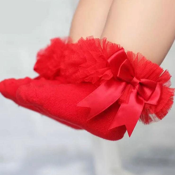 Astrid Frill Socks- Red