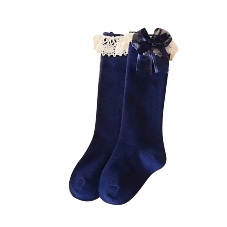 Nicoletta Knee High Socks- Navy - SEO Optimizer Test