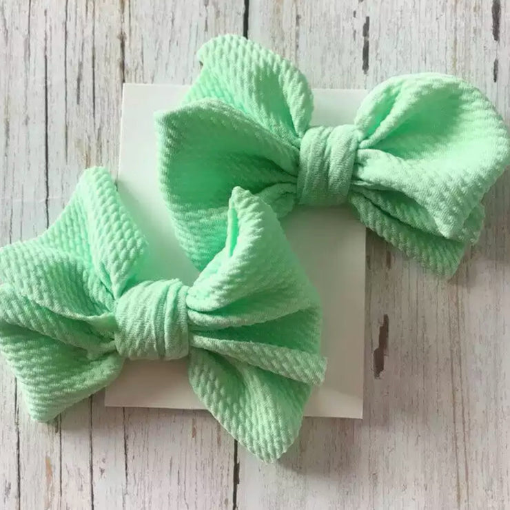 Cate Piggie Bows- Light Lime
