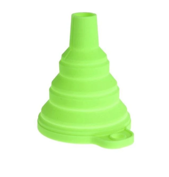 Green Silicone Foldable Funnel