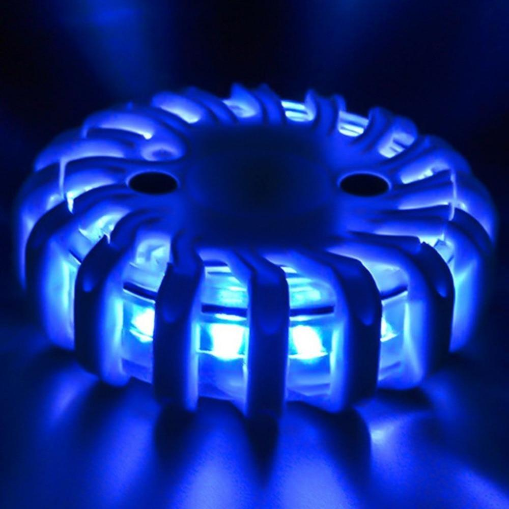 Blue Magnetic LED Emergency Safety Flare Set