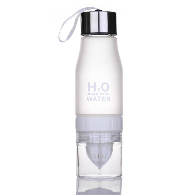 H2O Fruit Infusion Water Bottle White