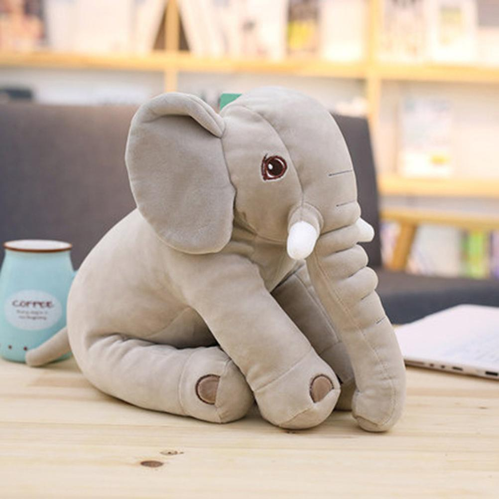 Adorable Elephant Plush Toy Pillow Gray