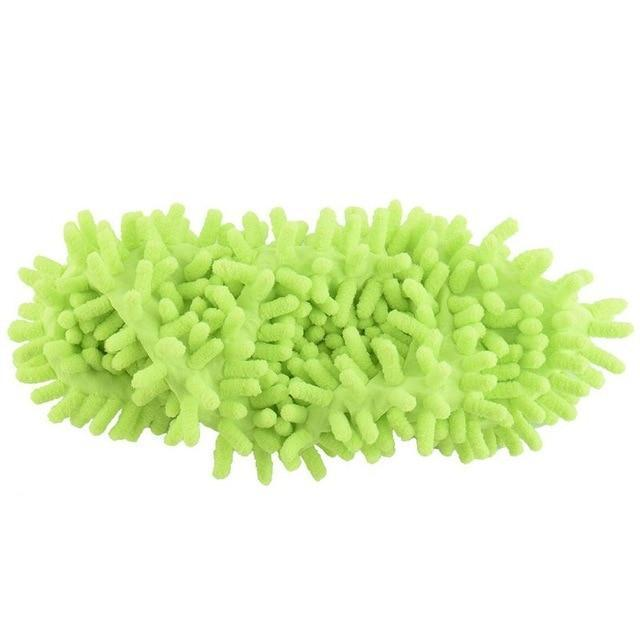 Green Lazy Mop Slippers