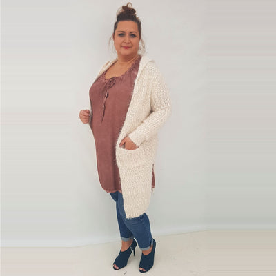 Cardigan Quirky Jumper Jacket Regular Plus Size [L104] - size 16 18 20 22 24 26 28 30 32 34 36 38 40 42 Wolfairy