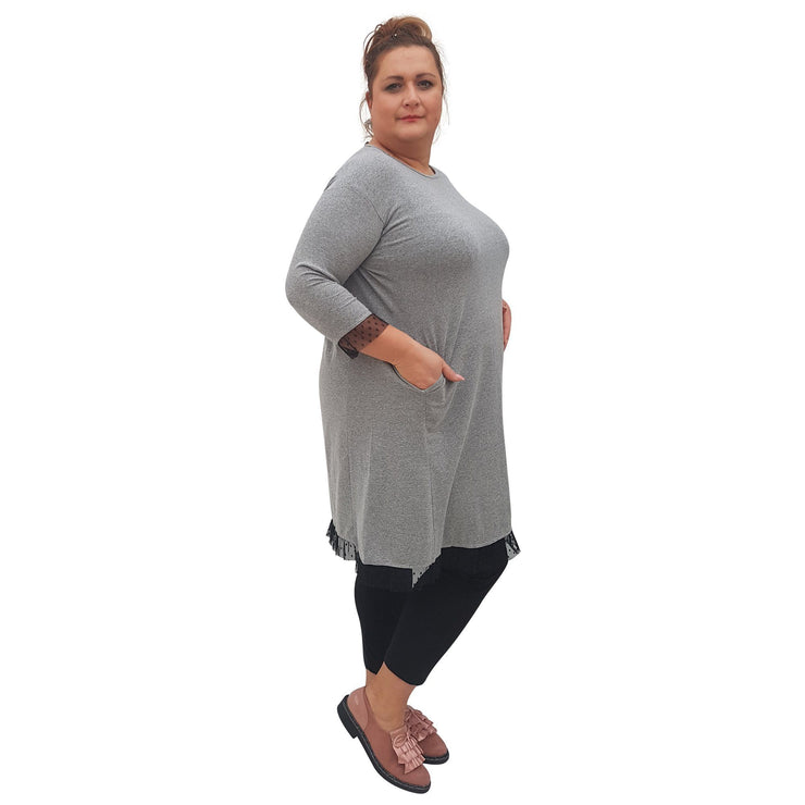 Dress Grey Plus Size [L76_GREY] - size 16 18 20 22 24 26 28 30 32 34 36 38 40 42 Wolfairy