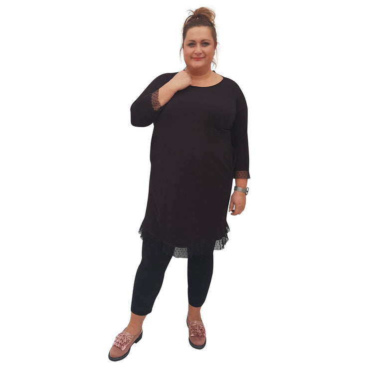 Dress Black Plus Size [L76_BLACK] - size 16 18 20 22 24 26 28 30 32 34 36 38 40 42 Wolfairy