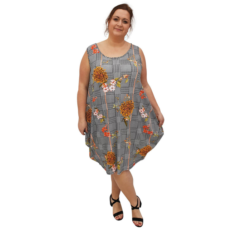 Dress Beach Holiday Loose Baggy Sleeveless Jersey Lagenlook Plus Size [L1055_YELLOW] dress Wolfairy