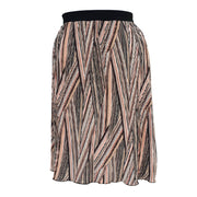 Geometric Print Pleated Midi Skirt With Elasticated Waistband Plus Size [L1059_BLUSH] - size 16 18 20 22 24 26 28 30 32 34 36 38 40 42 Wolfairy