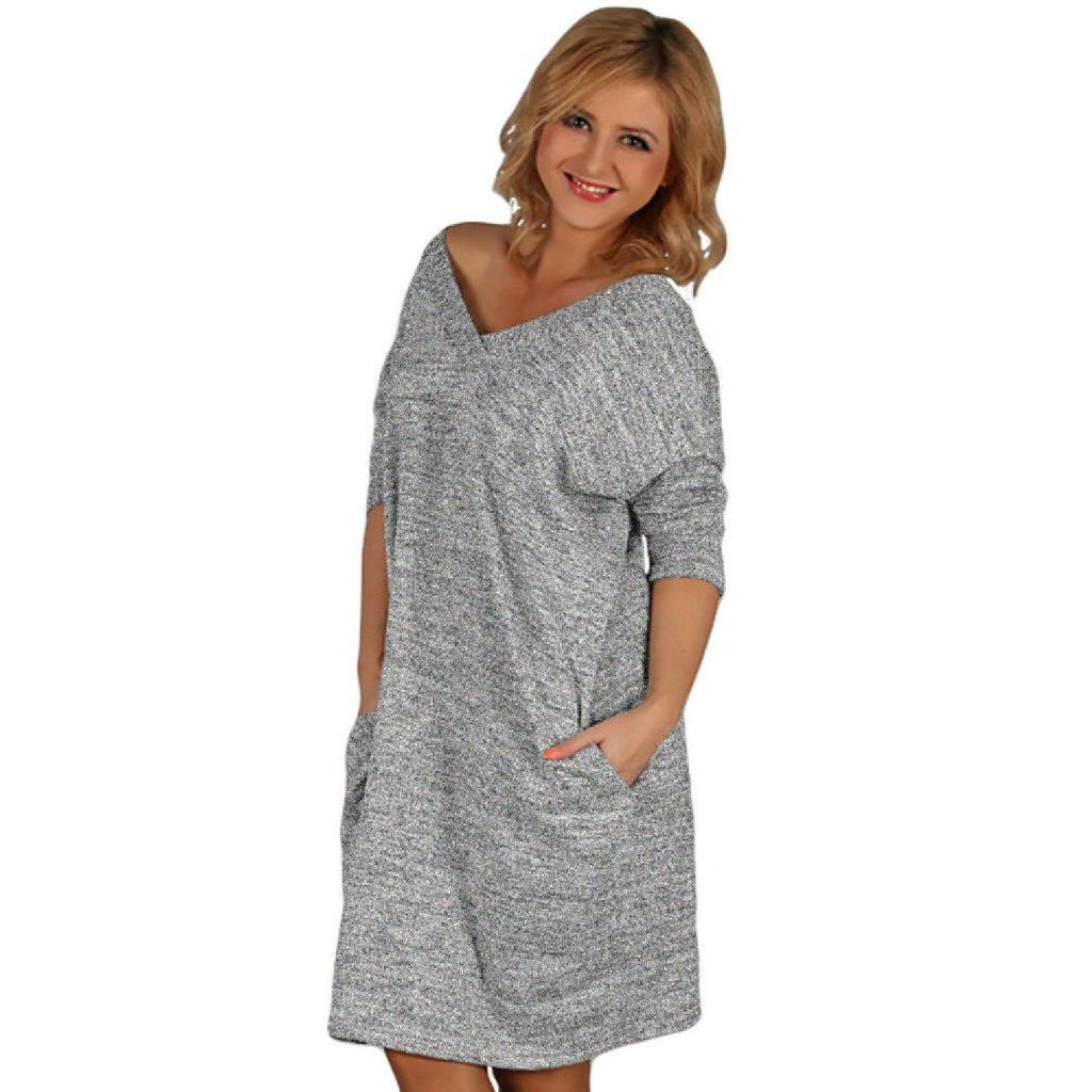 Dress Jumper Grey2 Lagenlook Plus Size [B54_GREY2] - size 16 18 20 22 24 26 28 30 32 34 36 38 40 42 Wolfairy