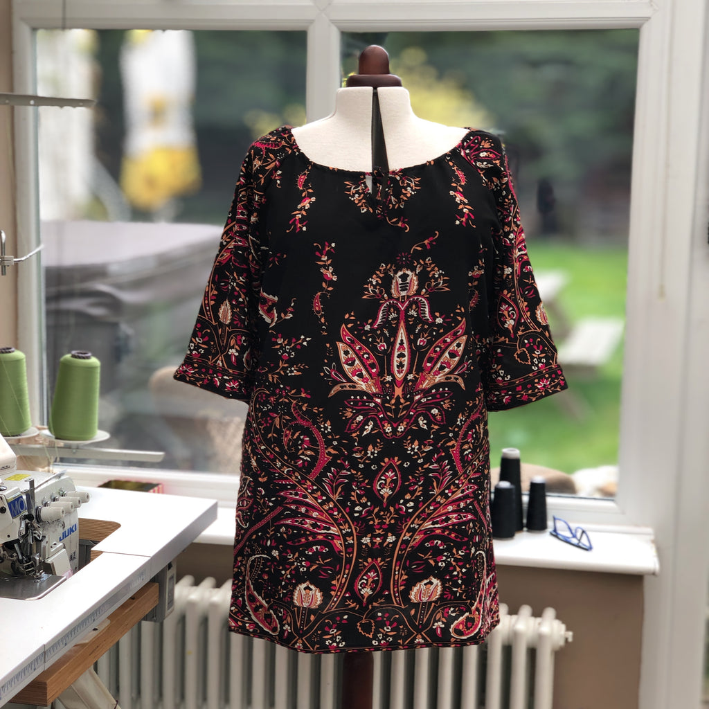 Plus Size Summer Airy Tunic Dress [L1140_BLACK]