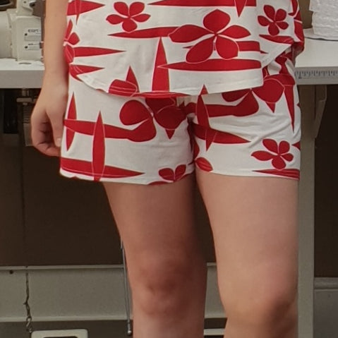 Plus Size Cotton Jersey Pyjama Shorts [L1201_FLORAL]