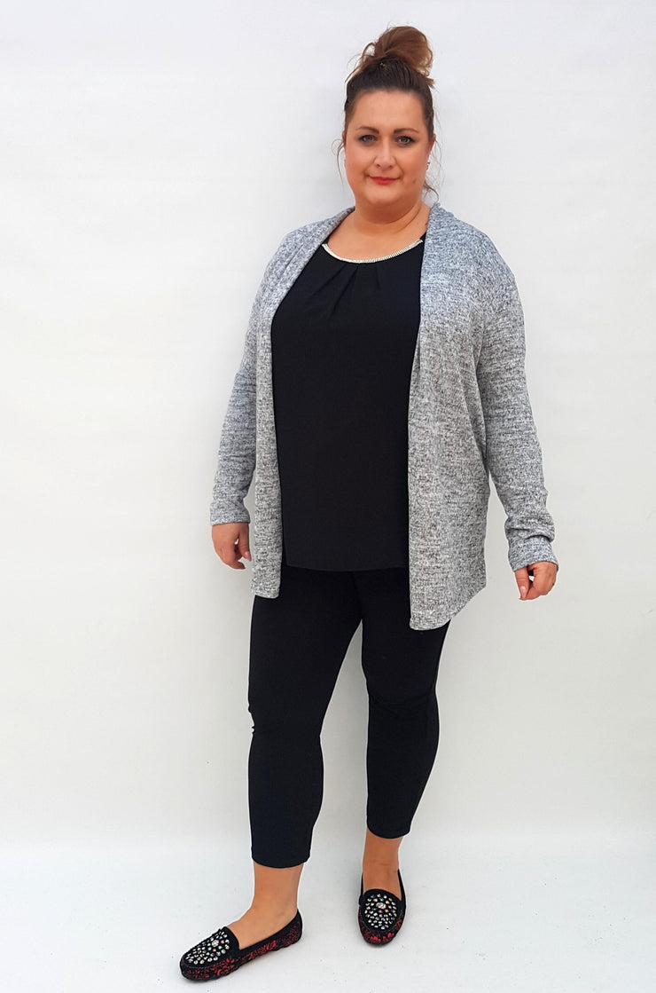 Cardigan Quirky Jacket Grey Plus Size [L95_GREY] coat Wolfairy