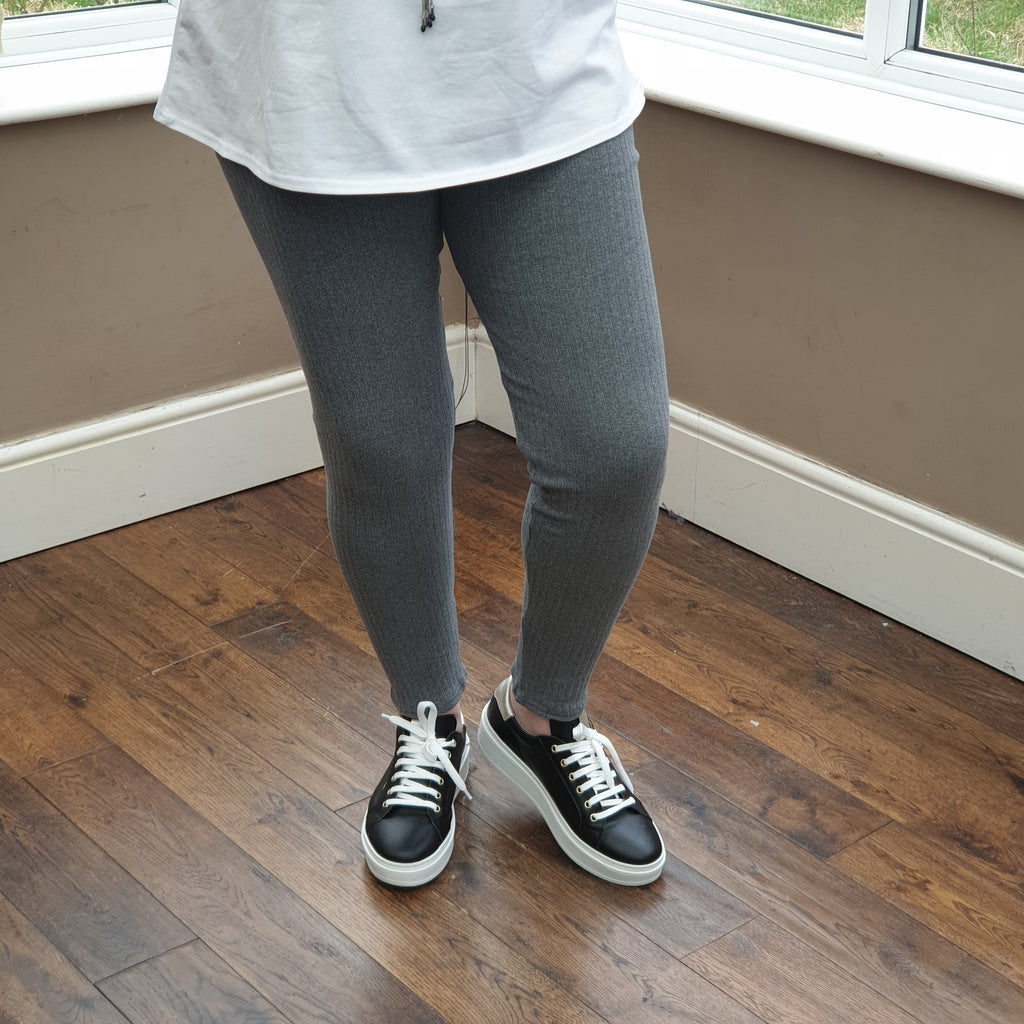 PLUS SIZE WARM LEGGINGS [L1243_GREY]