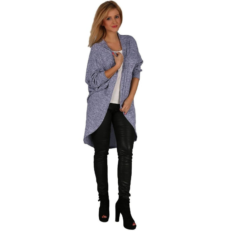 Cardigan Quirky Jumper Jacket Blue Plus Size [L102_BLUE] coat Wolfairy