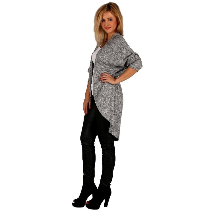 Cardigan Quirky Jumper Jacket Grey Plus Size [L102_GREY] coat Wolfairy