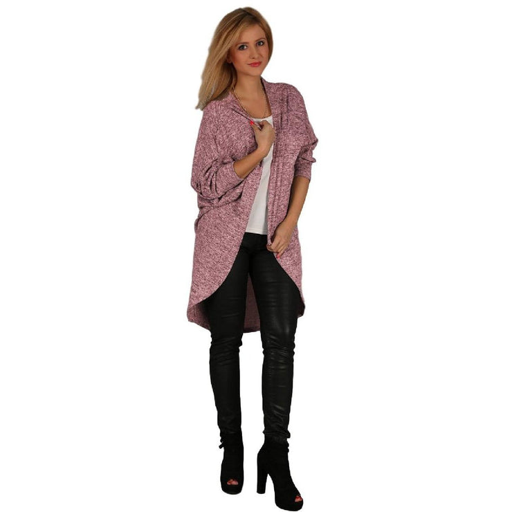 Cardigan Quirky Jumper Jacket Wine Plus Size [L102_WINE] coat Wolfairy