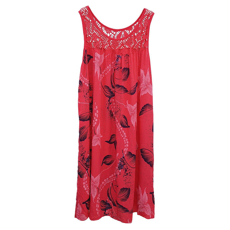 Dress Boho Hippie Floral Fuchsia Plus Size [L19_FUCHSIA] dress Wolfairy