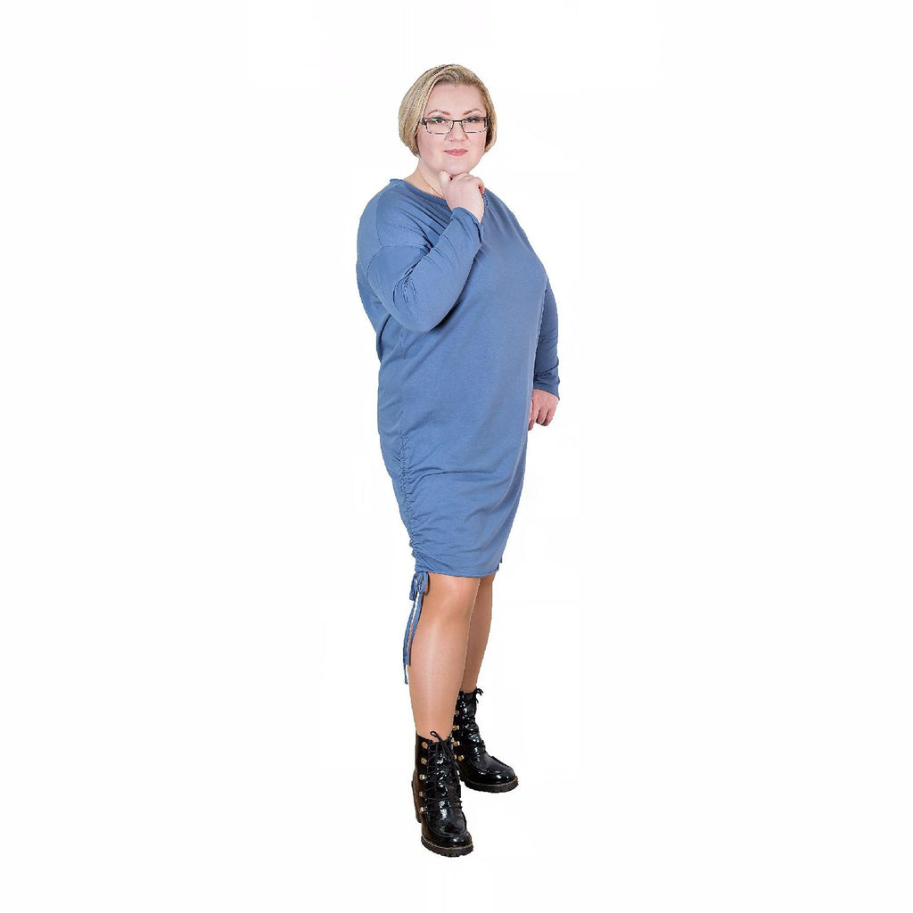Dress  Quirky Blue Plus Size [L223_BLUE] - size 16 18 20 22 24 26 28 30 32 34 36 38 40 42 Wolfairy