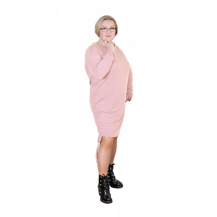 Dress  Quirky Pink Plus Size [L223_PINK] - size 16 18 20 22 24 26 28 30 32 34 36 38 40 42 Wolfairy