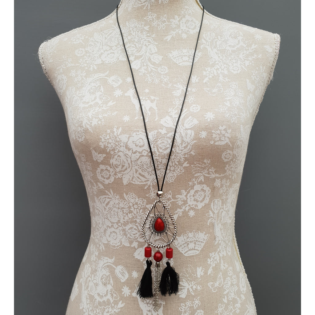 LONG NECKLACE - 54 cm [N4_RED]