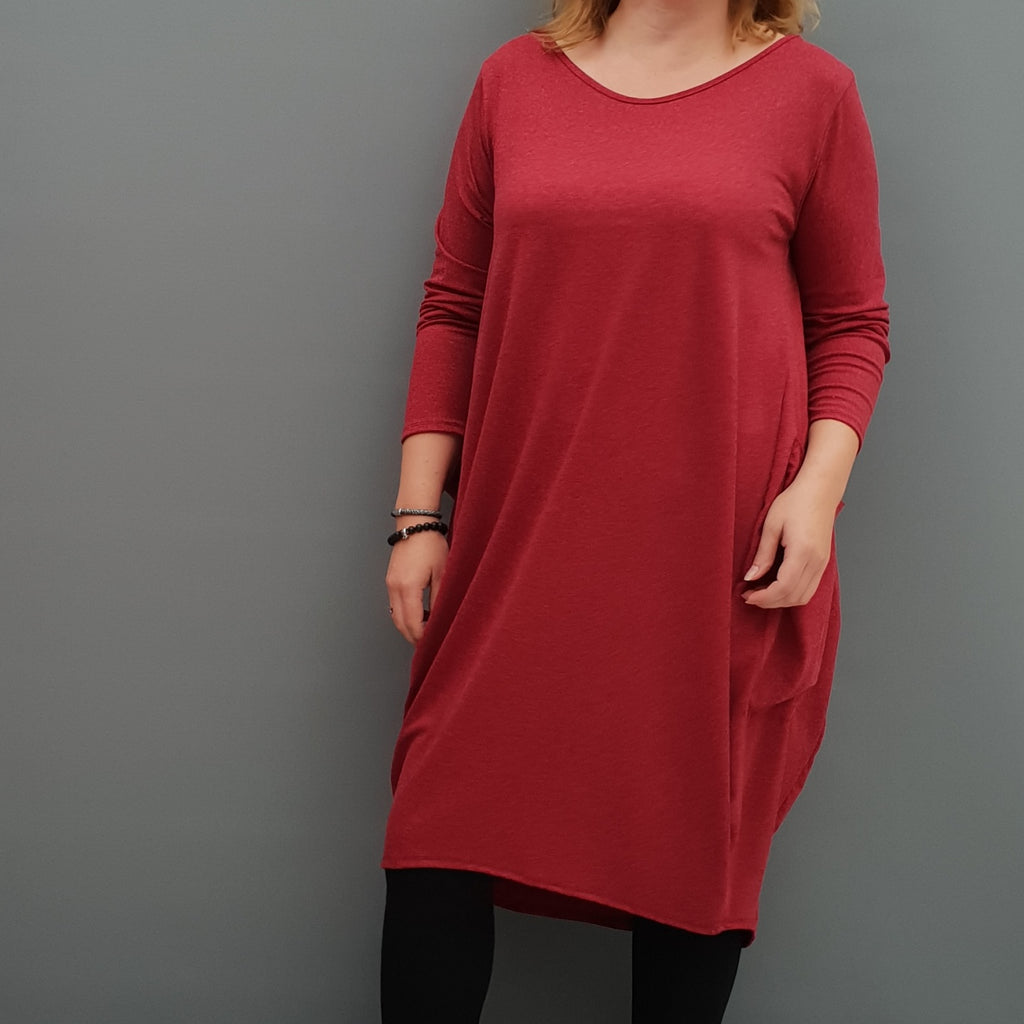 Womens winter angora dress warm sweater dress loose baggy lagenlook tunic [L1087_WINE] - size 16 18 20 22 24 26 28 30 32 34 36 38 40 42 Wolfairy