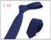 Men's Cotton Striped Narrow Necktie