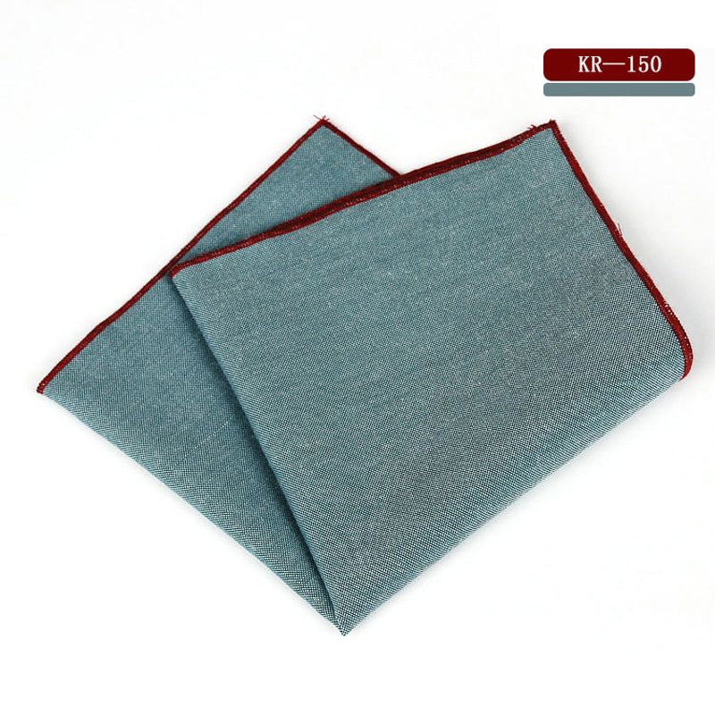 Solid Cotton Handkerchief Pocket Square