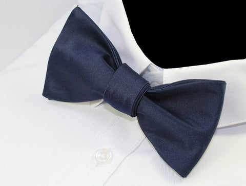 Solid Color Silk Self Tie Bow Tie (5 Colors)